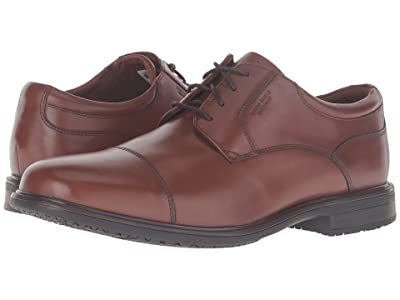Rockport Essential Details II Waterproof Cap Toe (Tan Antique Leather) Men