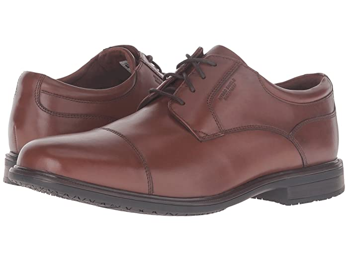 Rockport  Essential Details II Waterproof Cap Toe (Tan Antique Leather) Mens Shoes