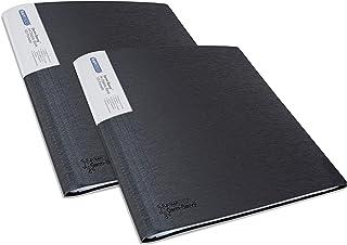 Rapesco 1645 Germ-Savvy™ Antibacterial: A4 Display Book 100 Pocket - Black – 2 Books