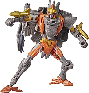 Transformers Toys Generations War for Cybertron: Kingdom Deluxe WFC-K14 Airazor Action Figure - Kids Ages 8 and Up, 5.5-inch