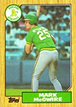 1987 Topps #366 Mark McGwire Baseball Card - first card in an Athletics uniform