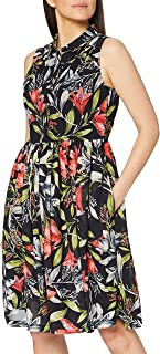 French Connection womens Women's Floral Sleeveless Drape Dress Dress