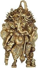 Warrior Lord Ganesha with Nandi and Shadbhujadhari Shiva - Brass Statue from South India