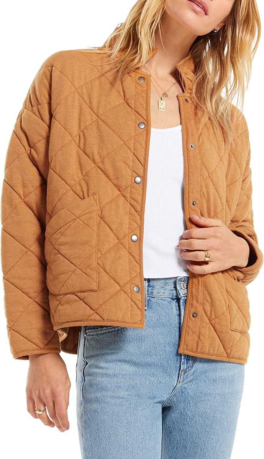 Maya Quilted Jacket in Camel Brown by Z Supply ZJ203646