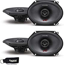 Alpine R-S68 Bundle - Two Pairs of Alpine R-S68 6x8 / 5x7 Inch Coaxial 2-Way Speakers photo