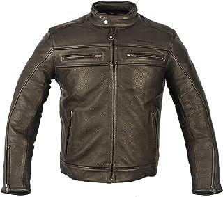 taglia M Bikers Gear Australia Limited The Craig giacca moto nabuk cerato in pelle bovina con cappuccio con 5/punti Armour marrone con maniche nero marrone e nero