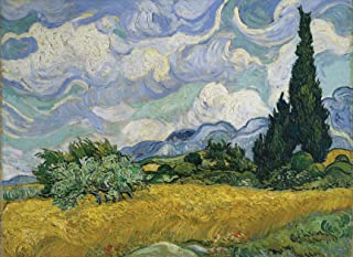 PalaceLearning Vincent Van Gogh Wheat Field with Cypresses Poster Print - 1890 - Fine Art Wall Decor (18