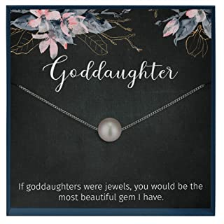 Muse Infinite Goddaughter Gifts from Godmother, Goddaughter Necklace, Baptism Gift, First Communion Gifts Girl, Confirmati...