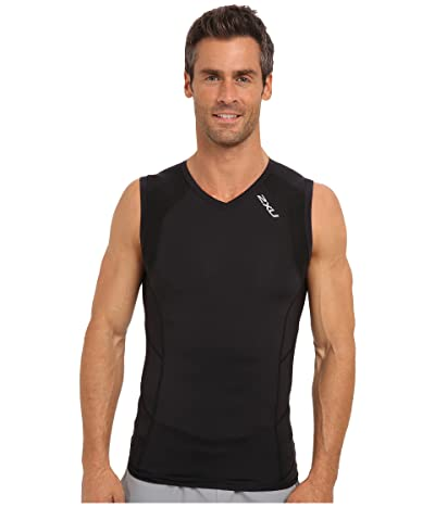 2XU Compression S/L Top (Black/Black) Men