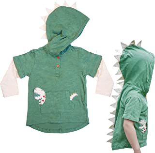 T-Rex Dino Toddler Hoodie Tops for Boys and Girls 1T - 8 Years