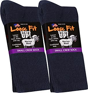Loose Fit Stays Up Solid Merino Wool Men's and Women's Sock 2 Pack