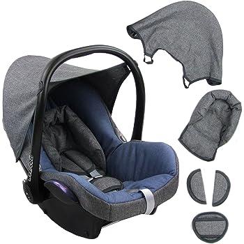 Komplett-Set XX BAMBINIWELT Ersatzbezug f/ür Maxi-Cosi CabrioFix 6-tlg Bezug f/ür Babyschale MINKY MB 11