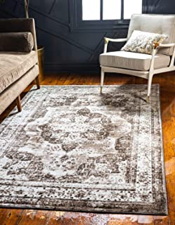 Unique Loom Sofia Collection Traditional Vintage Light Brown Area Rug (8' x 11')