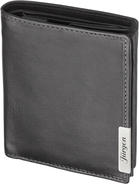 Cadenis Herren Leder Geldbörse Geldbeutel mit Laser-Gravur aus Rindnappa schwarz schwarz schwarz Hochformat 12,5 x 10 cm B00SJEHGEW 7549ac