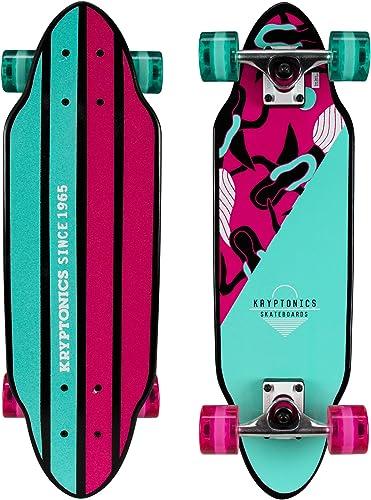 Kryptonics Mini Cutaway Cruiser Skateboard - Complete 26