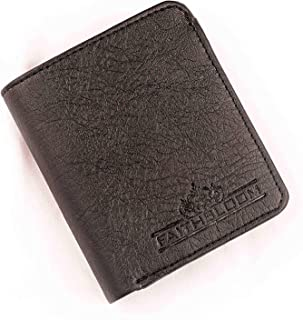 FAITHBLOOM,S Mens Designer Leather Black Wallet Men Credit Card Holder||Money Purse||Pocket Wallet/Unisex Leather Blocking Card Holder Cum Minimalistic Wallet