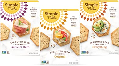product image for Simple Mills, Snacks Variety Pack, Original, Garlic & Herb, Everything Variety Pack, 3 Count (Packaging May Vary)