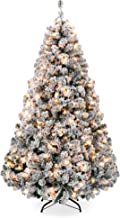 Best flocked artificial christmas tree with lights Reviews