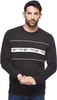 Wrangler Men's W6584I Activewear Sweatshirts, Black, Large