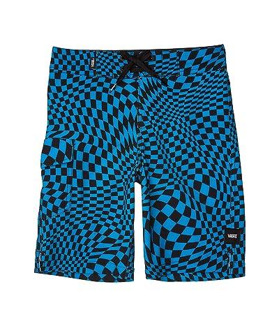 Vans Kids Warped Check Boardshorts (Big Kids) (Blue Jewel) Boy