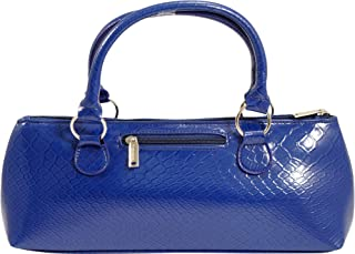Primeware Wine Clutch Bag (Thermal Insulated) Trendy Women's Carry Tote   Holds Red & White 750mL Bottles   Trendy Fashion   Incl. Portable Waiter-Style Corkscrew (Blue Burmese)