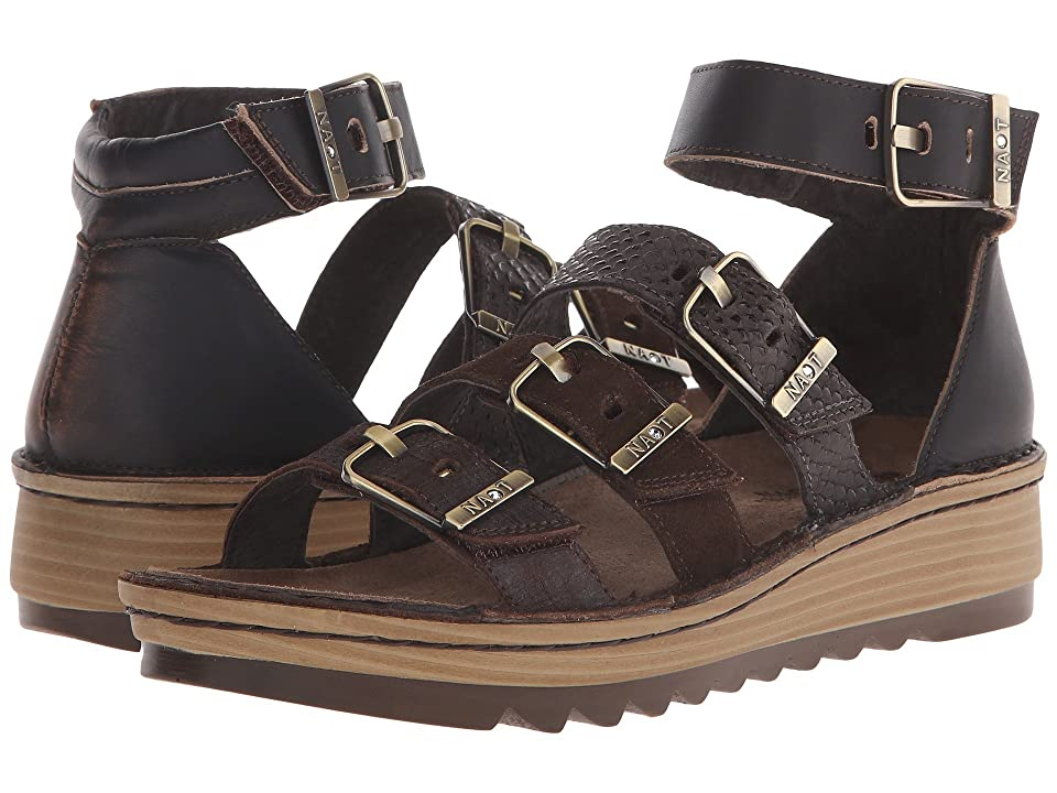 Naot Begonia (Mine Brown/Hash Suede/Brown Croc Leather/Volcanic Brown Leather) Women