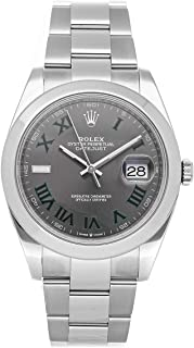 Rolex Datejust Mechanical (Automatic) Slate Gray Dial Mens Watch 126300 (Certified Pre-Owned)