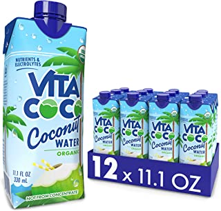 Vita Coco Coconut Water, Pure Organic | Refreshing Coconut Taste | Natural Electrolytes | Vital Nutrients | 11.1 Oz (Pack ...
