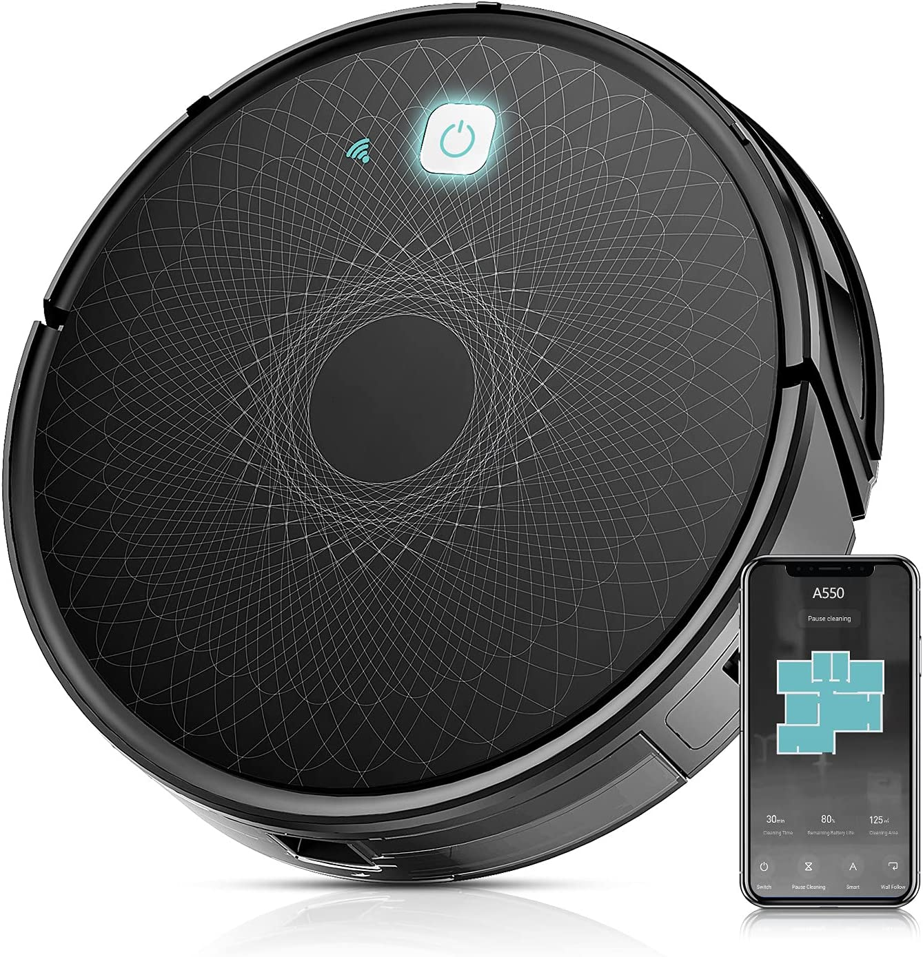 Robot Vacuum Wi-Fi Connectivity Powerful Suction 40% OFF Cheap Sale depot Self- 1800Pa