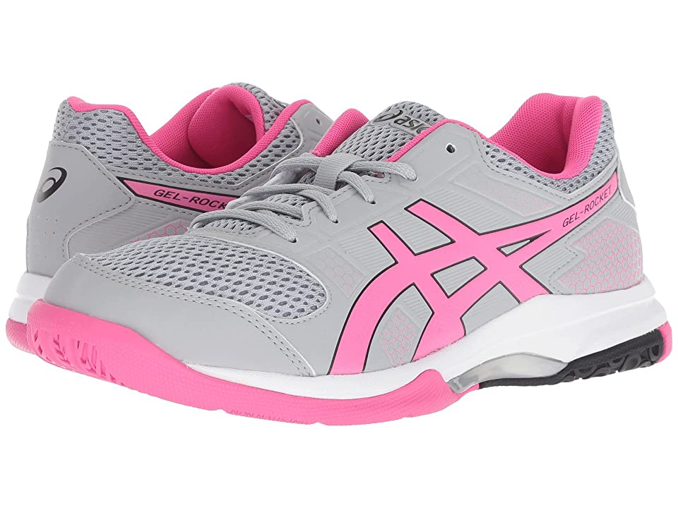 ASICS Gel-Rocket 8 (Mid Grey/Pink Glo) Women