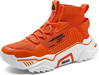 Mens Fashion Sneakers High Top Casual Shoes