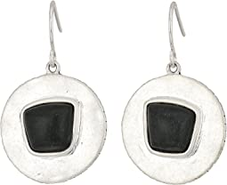 The Sak - Round Drop Stone Earrings