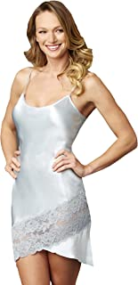 Julianna Rae Women's 100% Silk Tresor Delice Chemise, Lace Trim, Sleepwear, Lingerie, Beautiful Gift Packaging