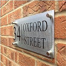 Z-Y Huisnummers & adresplaatjes Aangepaste moderne transparante acryl huis teken plaques deurplaten met aluminium composie...
