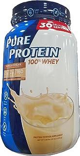 Pure Protein Whey Powder, Vanilla Cream, 2.58 Pound