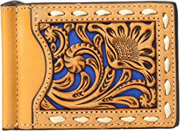 Nocona Constrast Underlay and Lacing Money Clip