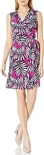 Laundry by Shelli Segal Women's Twin Print Sleeveless Wrap Dress