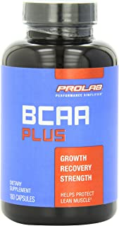 PROLAB BCAA PLUS, Branched Chain Amino Acid Capsules, 180-Count