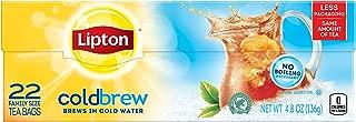 Lipton Family Iced Tea Bags, Black tea, 22 ct (Pack of 6)