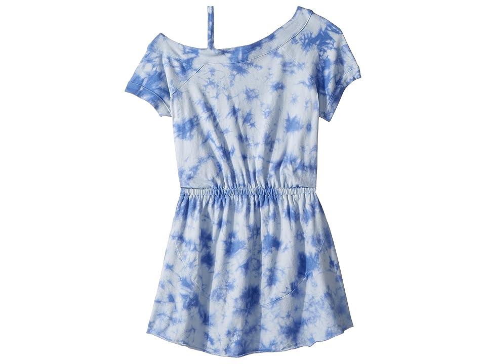 Splendid Littles One Shoulder Tie-Dye Dress (Big Kids) (Hydrangea) Girl