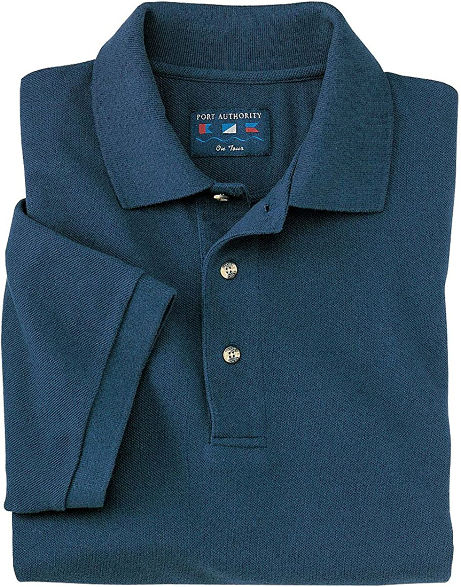 Port Authority Men's Big And Tall Knit Polo Shirt_Navy_2XL Tall
