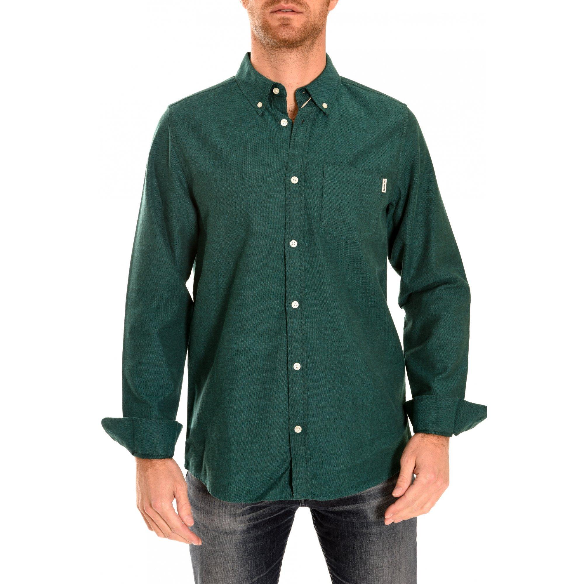 Carhartt Dalton Camisa de manga larga para hombre Verde verde Talla:mediano: Amazon.es: Deportes y aire libre