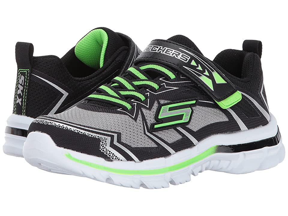 SKECHERS KIDS Nitrate (Little Kid/Big Kid) (Gray/Black) Boy
