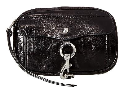 Rebecca Minkoff Dog Clip Belt Bag (Black/Polished Nickel) Women