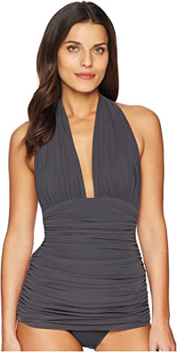 KAMALIKULTURE by Norma Kamali Halter Bill Swimsuit
