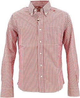 [SWEEP!! LosAngeles スウィープ!! ロサンゼルス] メンズ コットン ギンガムチェック ボタンダウンシャツ GINGHAM SWSDGM-17 RED(レッド)