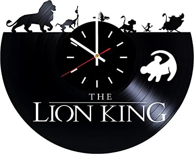 Lion King Vinyl Wall Clock is a Gift for Boys Made from Vintage Vinyl Record Wonderful Handmade Gift - Living Room Nursery Wall Decor Great Gifts idea for Birthday