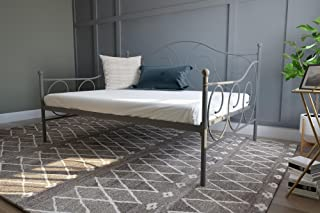 dhp victoria full size metal daybed dark pewter