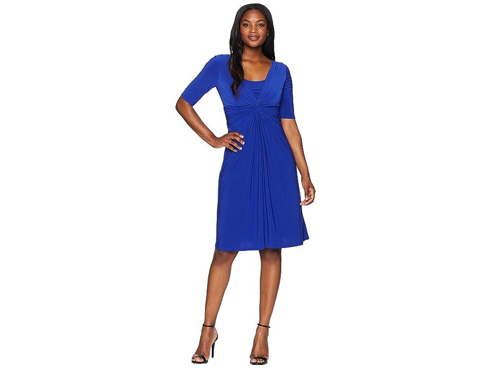 CHAPS Knotted Jersey Dress (Posh Blue) Women