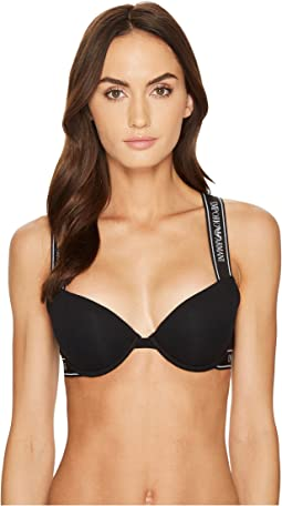 Emporio Armani - Iconic Cotton Cross Back Push-Up Bra